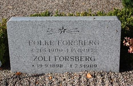 Gravsten Riseberga Folke Forsberg, Svenstorp