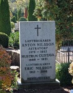 Gravsten Riseberga, Anton Nilsson i Åstratorp