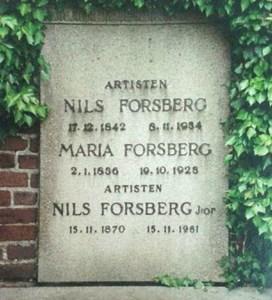 Nils Forsbergs gravsten