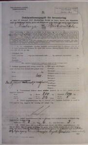 Deklarationsuppg. 1917, Äktabogården, sid 1