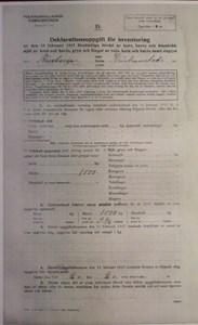 Deklarationsuppg. 1917, Åstratorp, Getakroken, sid 1