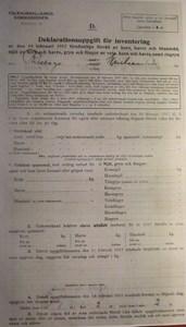 Deklarationsuppg. 1917, Åstratorp, Tvärta-Thelanders, sid 1