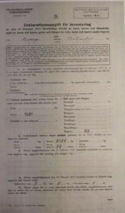 Deklarationsuppg. 1917, Bökesåkra, Havahuset, sid 1
