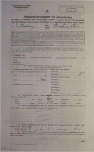 Deklarationsuppg. 1917, Svarvareboden, Olof Nils, sid 1