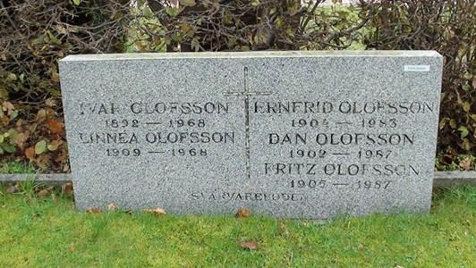 Syskonen Olofssons, från Svarvareboden, gravplats