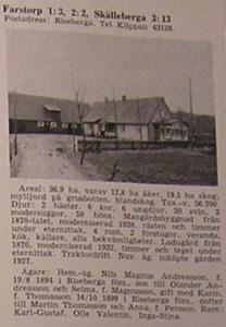 Farstorp 2, Fällekroken, ur Skånes Bebyggelse 1959