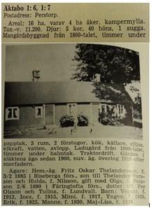 Ur Skånes bebyggelse 1959, Äktaboden, Oskar Thelanders