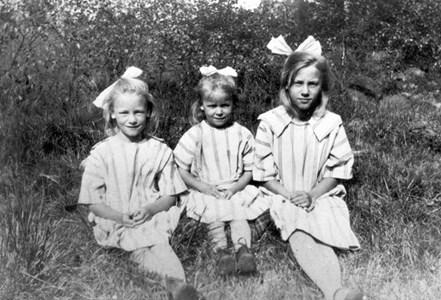 Olga, Svea och Doris Thornström