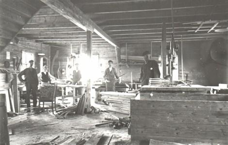 Interiör från Horda möbelfabrik