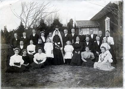 Bröllop vid Kvarnstugan 1908