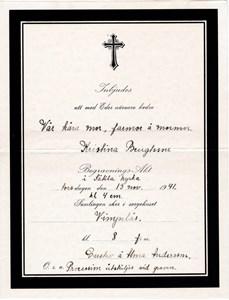 Kristinas begravningsinbjudan