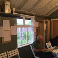 Arbete pågår i skyttepaviljongen