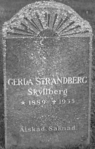 Strandberg Gerda, Skyllberg