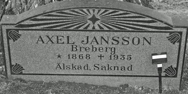 Jansson Axel, Bredberg