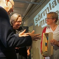 Museet får en Dymling av hembygdsförbundet. En symbol för vårt framtida samarbete