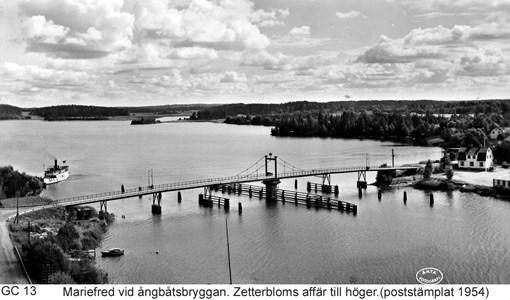 Den gamla bron över sundet