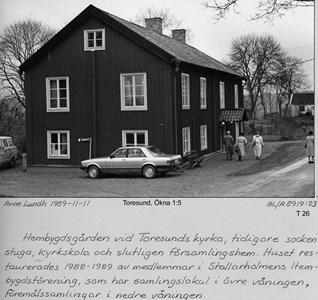 Hembygdsgården tidigare kyrkskola och sockenstuga.