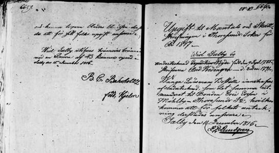 Underlag för mantalsskrivning vid Salby 1817