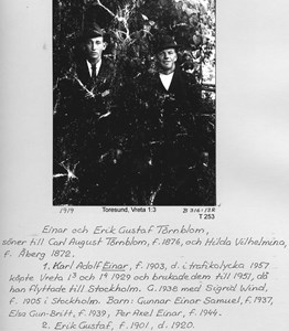 Einar och Erik Gustaf Törnblom