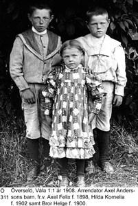 Axel Anderssons barn i Väla
