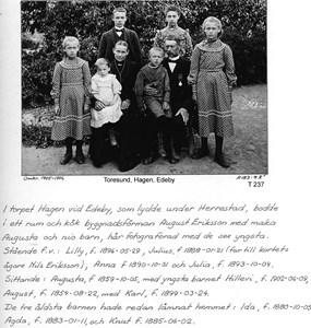 Edebyhage 1905 - familjen Eriksson
