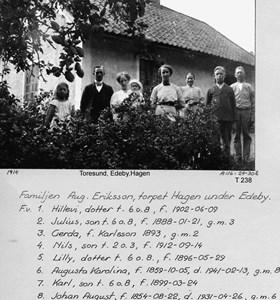 Edebyhage 1914 - familjen Eriksson