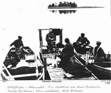 Fiskafänge vid Kolsund 1925
