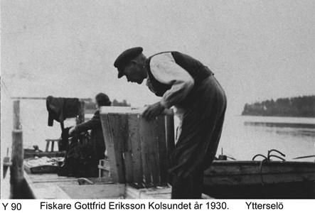 Fiskare Gottfrid Eriksson 1930