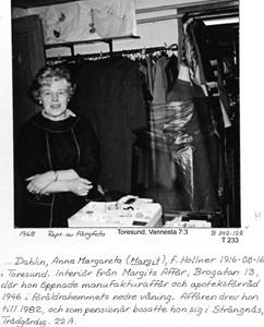 Margits Affär. Margit Dahlin f Hollner.