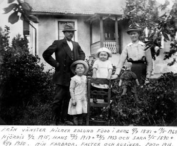 Hilmer Edlund med familj