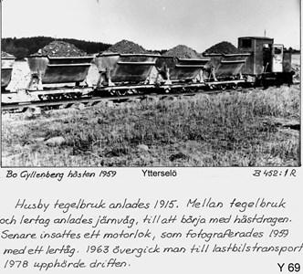 Lertransport vid Husby tegelbruk