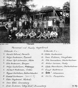 Personal vid Husby tegelbruk 1940-tal