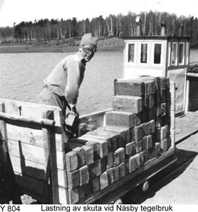Lastning vid Näsby tegelbruk