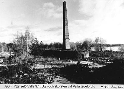 Ugn och skorsten på Valla