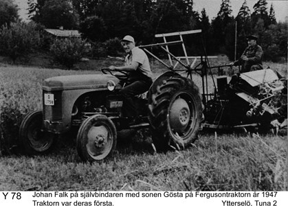 Johan August och sonen Gustaf Falk
