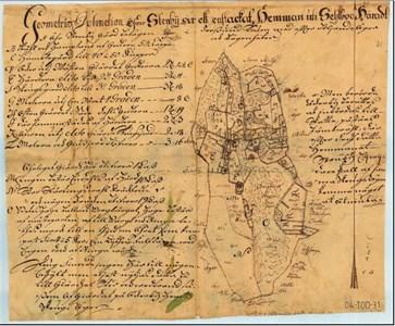 Karta över  Stenby från 1720