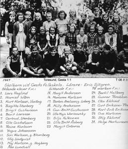 Elever vid Gesta 1947