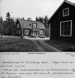 Lärarbostaden vid Ulriksbergs småskola