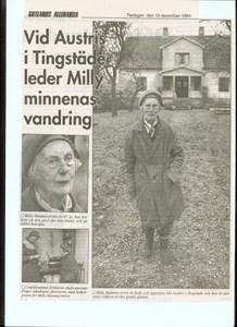 Milly Hammarström berättar minnen sid 1