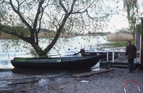 Fiskar Antons brygga i Torshällaån, slutet 1960 tal