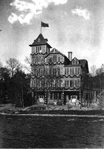 Höglundska villan dekorerad för invigning 1903
