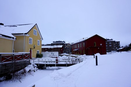 """Holmen bebyggelse längst """"Lillån"""", 2016"""