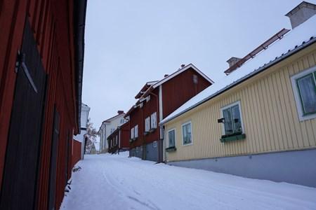 Lilla gatan från norr mot Rådhustorget, 2016