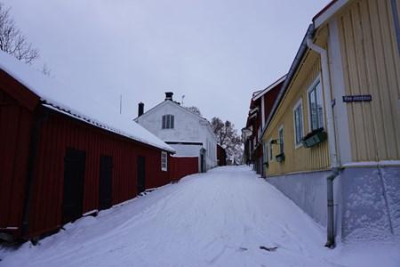 Lilla gatan, från norr mot Rådhustorget, 2016