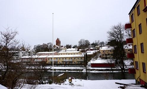Vy över Vattendragaren och Vive Jönsgatan, 2016