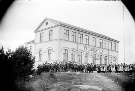 Elever vid Roxnäs skola