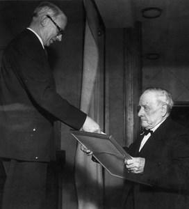 Bruksdisponent Georg Pagels och Nybypensionären Alfred Berglund
