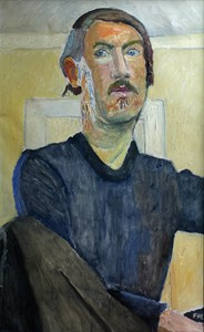 Folke Hellström Lind, självporträtt, 1950-tal