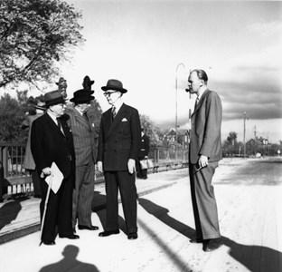 Invigning av Vallbybron 1946 , Carl Larsson th