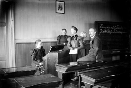 Kyrkskolans klassrum, tidigt 1900-tal